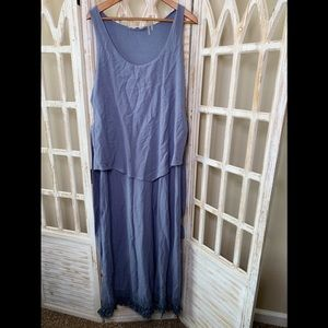 Soft surroundings large lilac maxi tassel dress